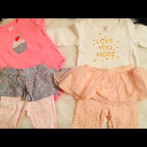 4 outfits baby girl 3-6 mo